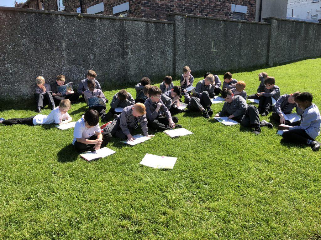 3rd Class English in the sun