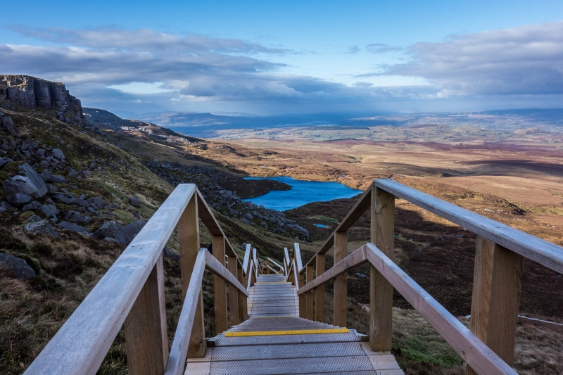 Cuilcagh-Mountain-Legnabrocky-Boardwalk-Trail-Walking-Route-to-summit-on-Fermanagh-and-Cavn-boarder-Ireland-Photo-Matt-Dean